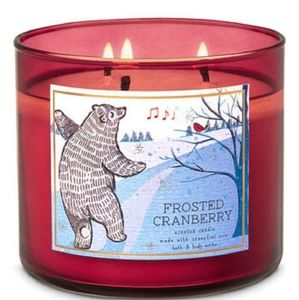 NEW BATH & BODY WORKS Frosted Cranberry Candle